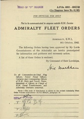 Admiralty Fleet Orders 1942 - 4832-4952
