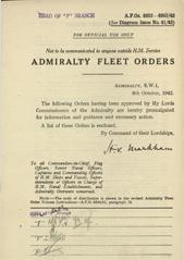 Admiralty Fleet Orders 1942 - 4832-4952