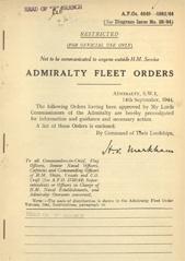 Admiralty Fleet Orders 1944 - 4849-4983