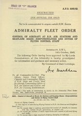 Admiralty Fleet Orders 1943 - 4903