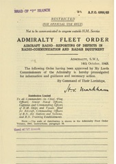 Admiralty Fleet Orders 1943 - 4904