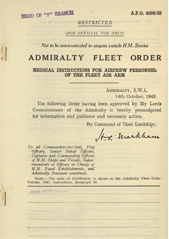 Admiralty Fleet Orders 1943 - 4906