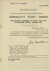 Admiralty Fleet Orders 1942 - 4953