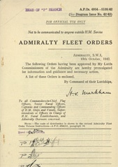 Admiralty Fleet Orders 1942 - 4954-5108