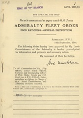 Admiralty Fleet Orders 1944 - 4984