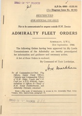 Admiralty Fleet Orders 1944 - 4986-5123