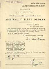 Admiralty Fleet Orders 1945 - 5016-5139
