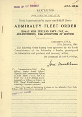 Admiralty Fleet Orders 1944 - 511