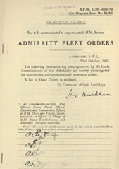 Admiralty Fleet Orders 1942 - 5110-5238