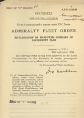 Admiralty Fleet Orders 1944 - 5124