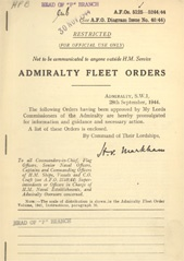 Admiralty Fleet Orders 1944 - 5125-5244