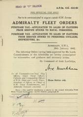 Admiralty Fleet Orders 1942 - 514-515
