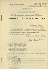 Admiralty Fleet Orders 1944 - 514-647