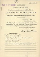 Admiralty Fleet Orders 1945 - 5140
