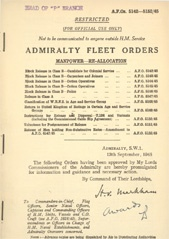 Admiralty Fleet Orders 1945 - 5142-5152