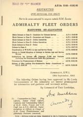 Admiralty Fleet Orders 1945 - 5142-5152