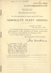 Admiralty Fleet Orders 1945 - 5153-5282
