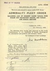 Admiralty Fleet Orders 1942 - 516