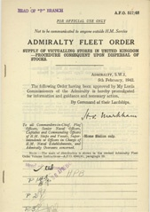 Admiralty Fleet Orders 1942 - 517