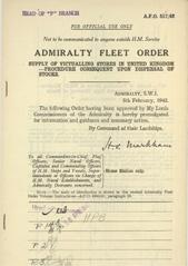 Admiralty Fleet Orders 1942 - 517