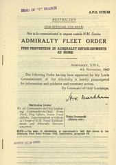Admiralty Fleet Orders 1943 - 5173
