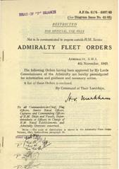 Admiralty Fleet Orders 1943 - 5174-5307