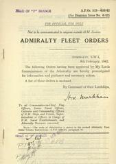 Admiralty Fleet Orders 1942 - 518-609