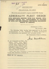 Admiralty Fleet Orders 1944 - 5245