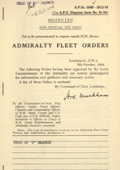 Admiralty Fleet Orders 1944 - 5246-5375