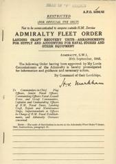 Admiralty Fleet Orders 1945 - 5284