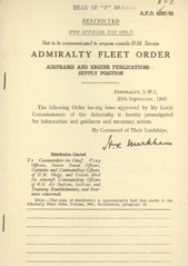 Admiralty Fleet Orders 1945 - 5285