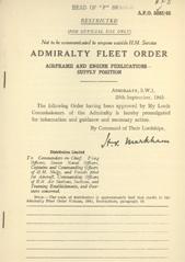 Admiralty Fleet Orders 1945 - 5285