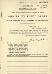 Admiralty Fleet Orders 1945 - 5286