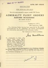 Admiralty Fleet Orders 1945 - 5287-5319