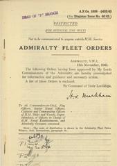 Admiralty Fleet Orders 1943 - 5308-5433