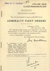 Admiralty Fleet Orders 1945 - 5320-5448