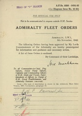 Admiralty Fleet Orders 1942 - 5358-5488