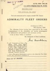 Admiralty Fleet Orders 1944 - 5509-5611