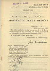 Admiralty Fleet Orders 1943 - 5554-5680
