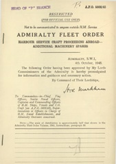 Admiralty Fleet Orders 1945 - 5608