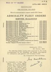 Admiralty Fleet Orders 1945 - 5609-5628
