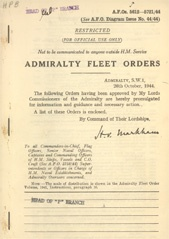 Admiralty Fleet Orders 1944 - 5612-5721