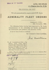 Admiralty Fleet Orders 1942 - 5616-5731