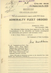 Admiralty Fleet Orders 1943 - 5681-5816