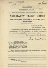 Admiralty Fleet Orders 1944 - 5722
