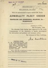 Admiralty Fleet Orders 1944 - 5722