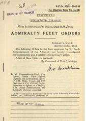 Admiralty Fleet Orders 1944 - 5723-5842
