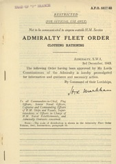 Admiralty Fleet Orders 1943 - 5817
