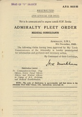 Admiralty Fleet Orders 1943 - 5818