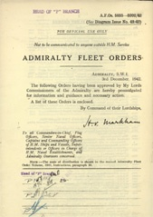 Admiralty Fleet Orders 1942 - 5855-5992